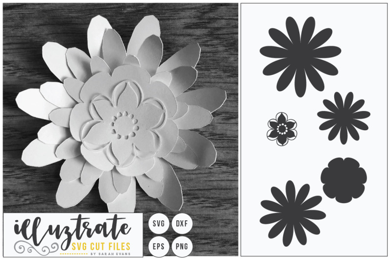 Flower Svg Cut File Flower Bundle 3d Flower Svg