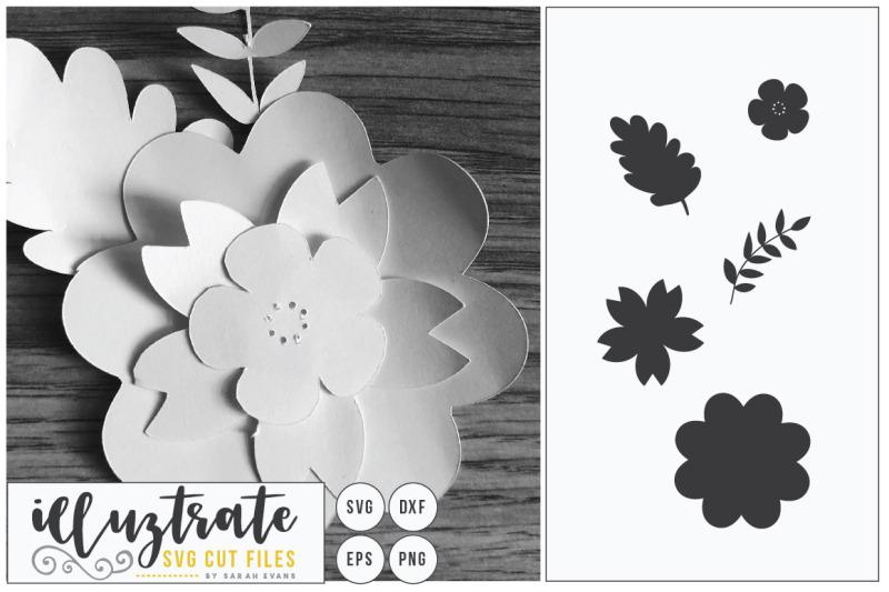 flower-svg-cut-file-flower-bundle-3d-flower-svg-layered-flower-d