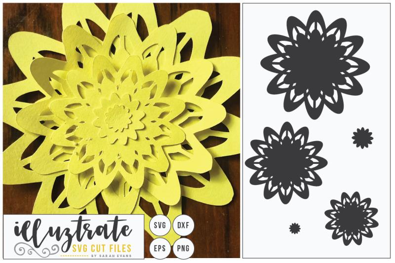 paper-cutting-flower-svg-cut-file-layered-flower-svg-diy-3d-flower