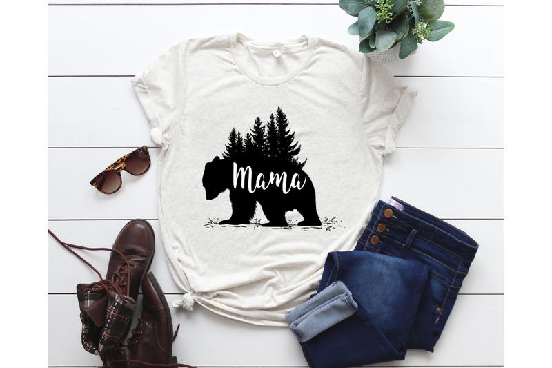 Mama Bear Svg Mama Bear Cut File Silhouette Cricut