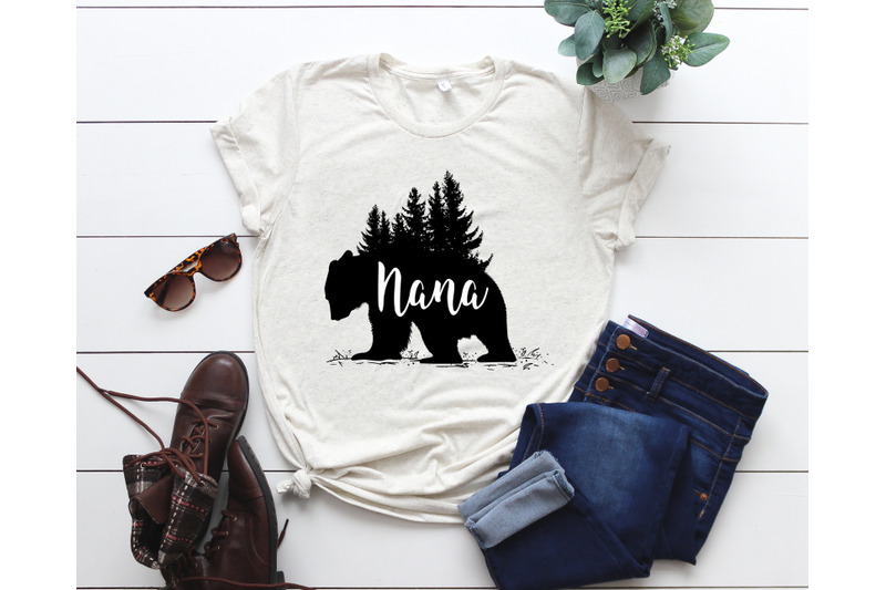 Nana Bear Svg Nana Bear Cut File Silhouette Cricut Instant