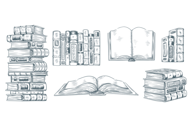 hand-drawing-books-drawn-sketch-of-literature-school-or-college-stud