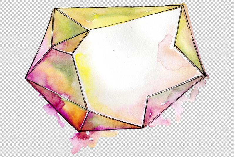 aquamarine-rystals-watercolor-png