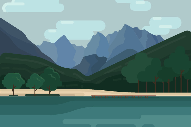 mountain-landscapes-vector-illustrations