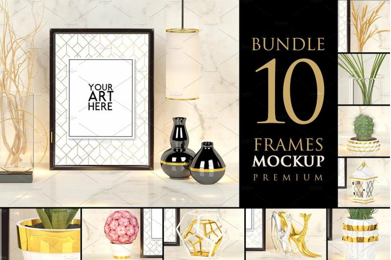 Free Bundle 10 frames - Mockup Premium (PSD Mockups)