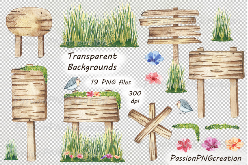 watercolor-wooden-signs-clipart