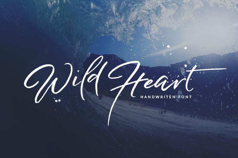 wild-heart-brush-font-set