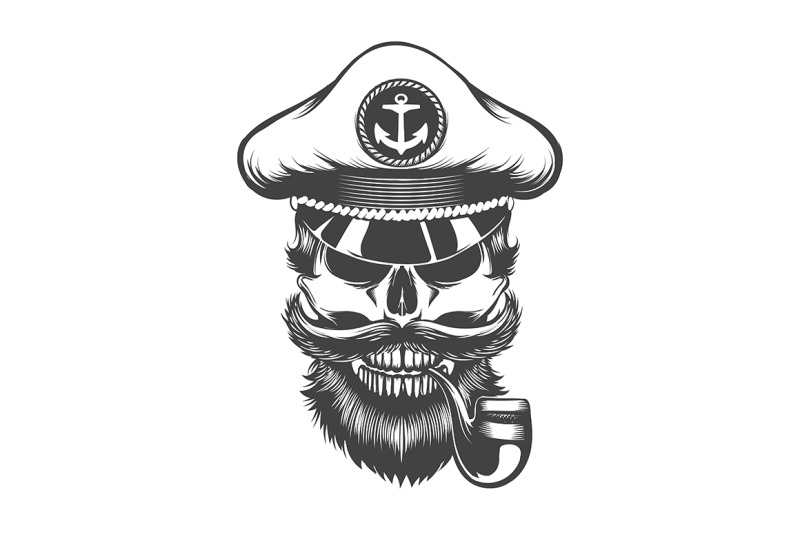skull-in-captain-hat-with-smoking-pipe