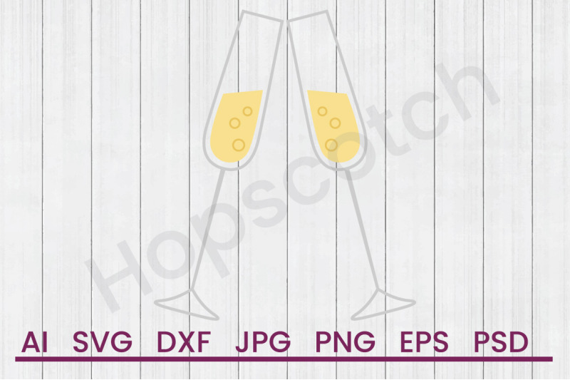 champagne-toast-svg-file-dxf-file