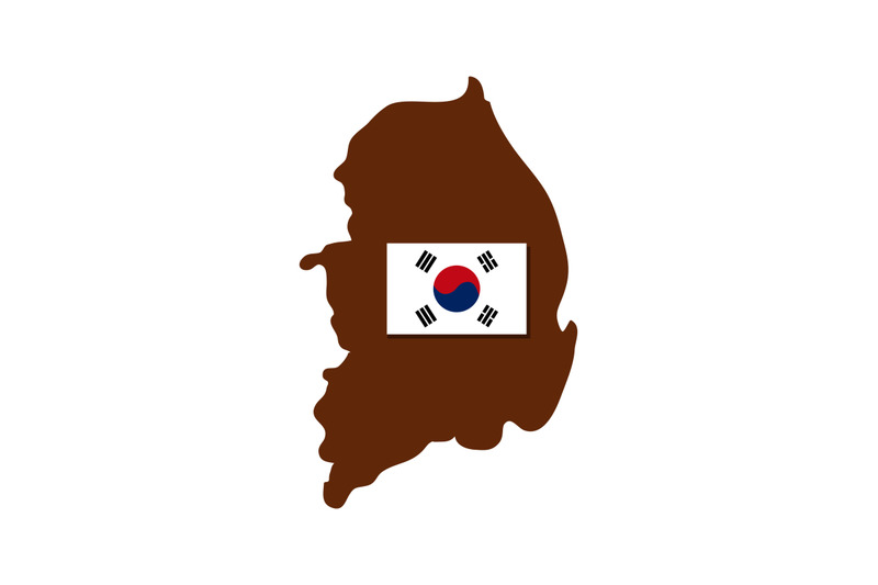 south-korea-map-with-flag