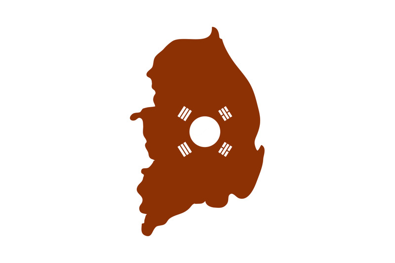 south-korea-map-with-flag