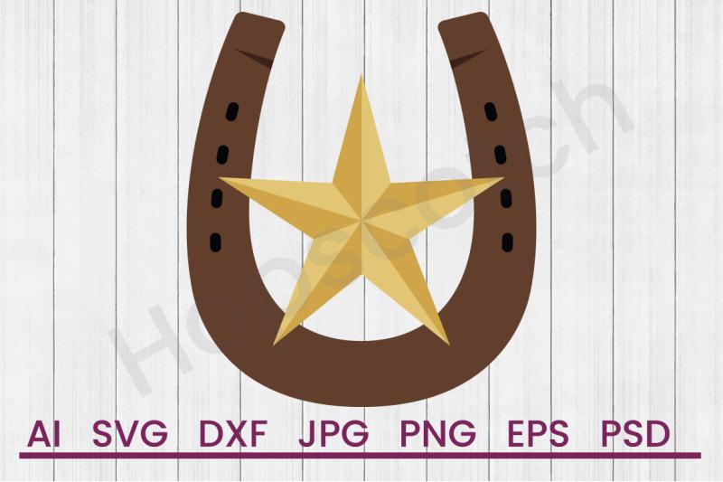 western-horseshoe-svg-file-dxf-file