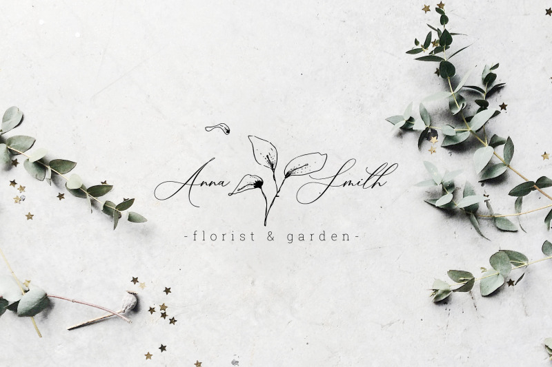 floral-outline-illustration-amp-logo-pack
