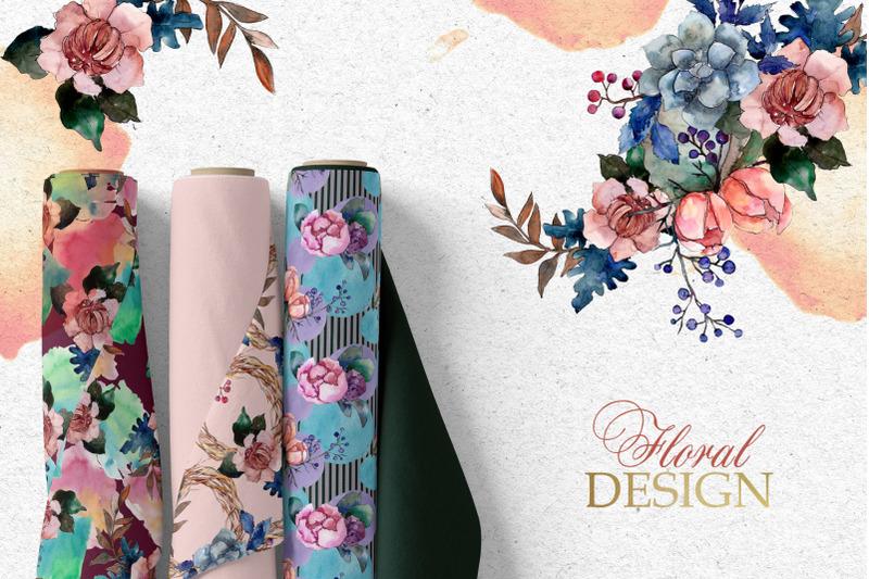bouquets-vintage-flower-watercolor-png