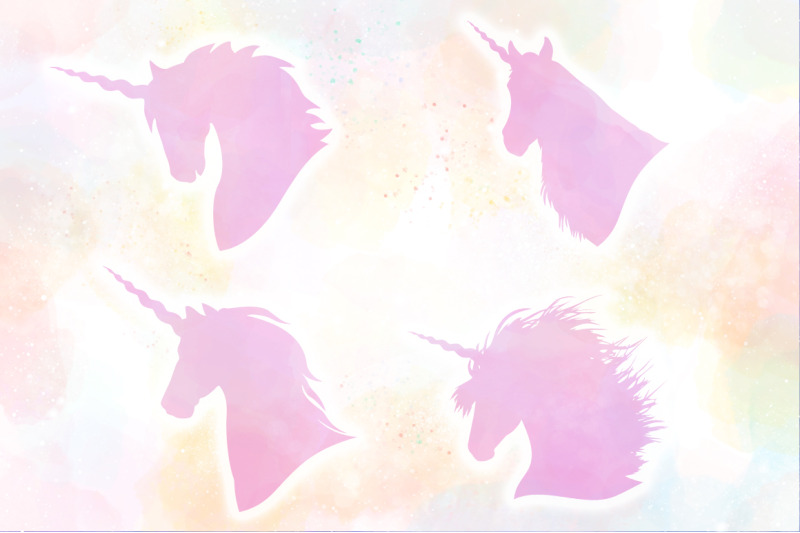 Unicorn Silhouettes Svg Cut Files Pack By Anastasia Feya Fonts