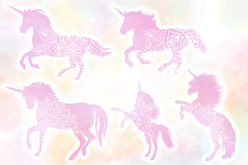 Unicorn Mandala Svg Cut Files Pack By Anastasia Feya Fonts Svg