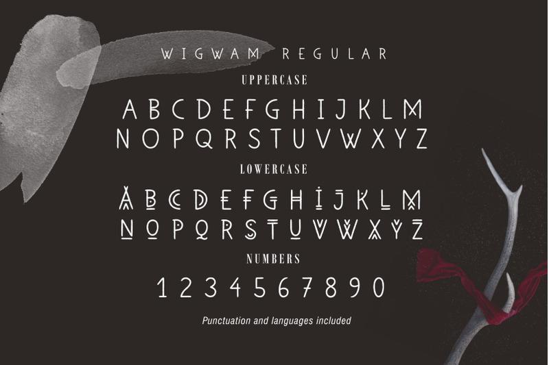 wigwam-handwritten-geometric-font