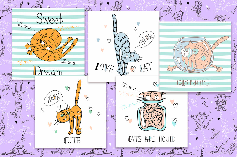 funny-cats-in-a-cute-style