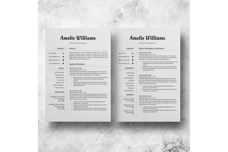 modern resume template    professional cv design