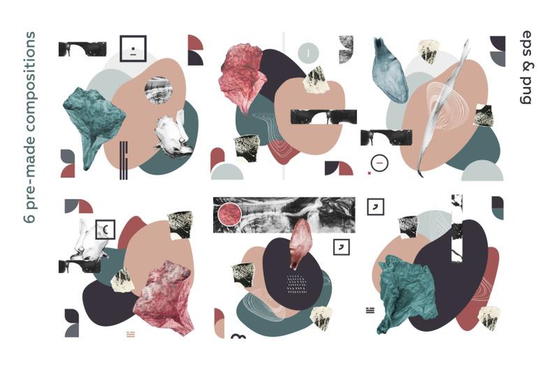 abstract-garden-modern-collage-set