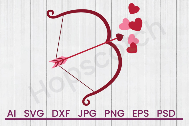 cupid-bow-svg-file-dxf-file