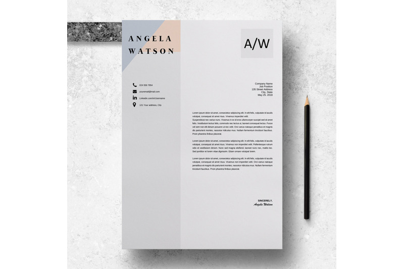 professional-cv-template-word-professional-cv-design-angela