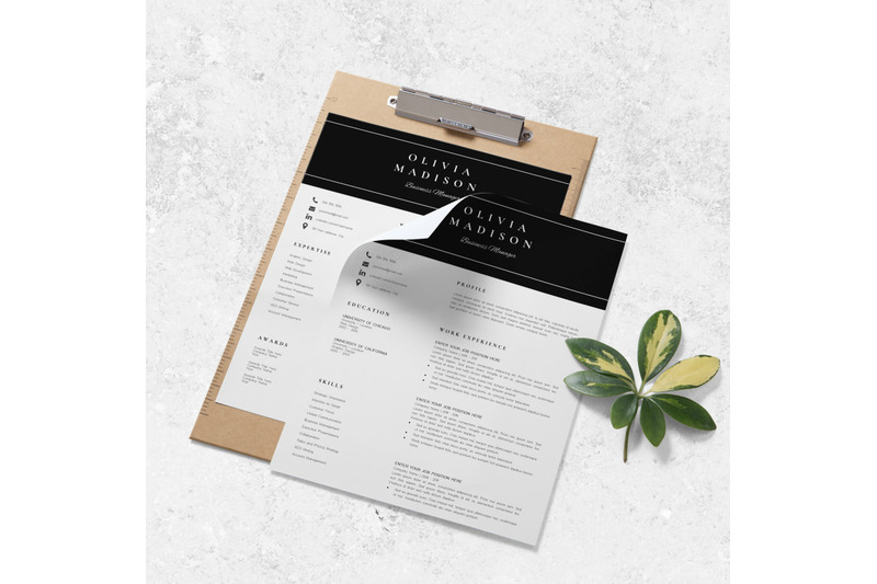 resume-instant-download-creative-resume-ideas-olivia