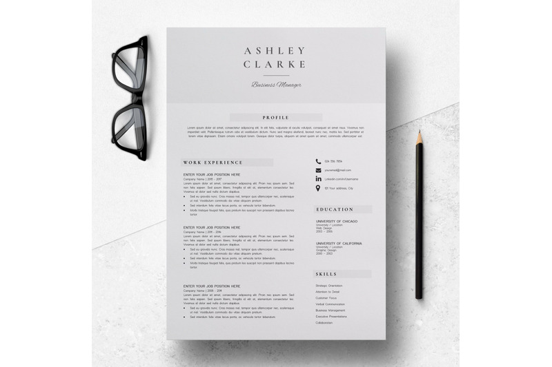 resume-template-5-pages-professional-resume-design-ashley