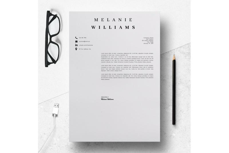 resume-template-minimalist-cv-template-word-4-page-melanie
