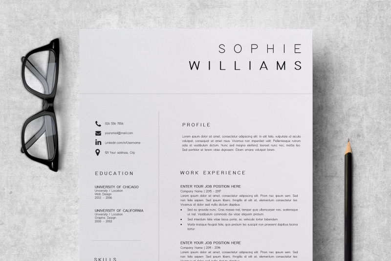 new-cv-template-professional-cv-design-sophie