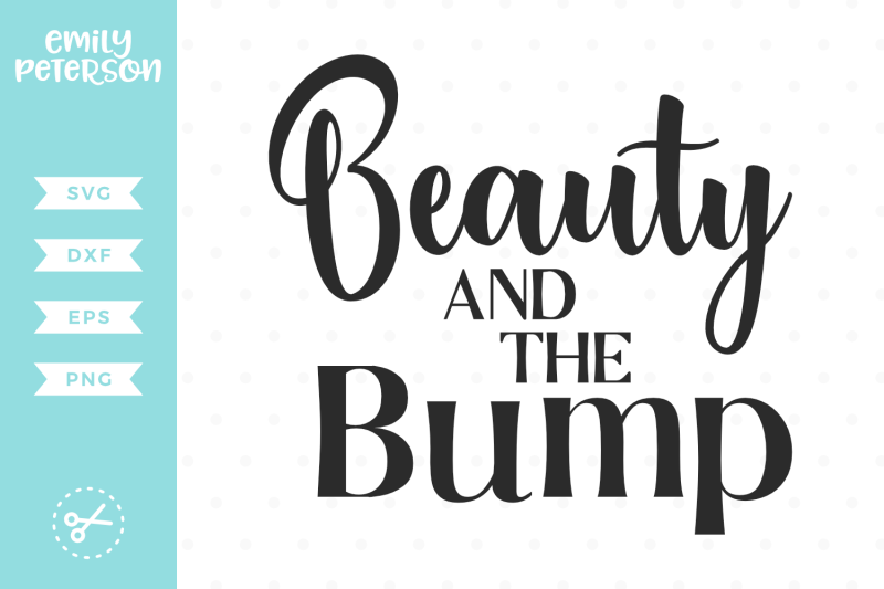 beauty-and-the-bump-svg-dxf