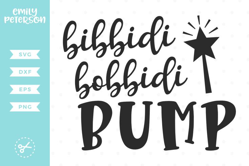 bibbidi-bobbidi-bump-svg-dxf