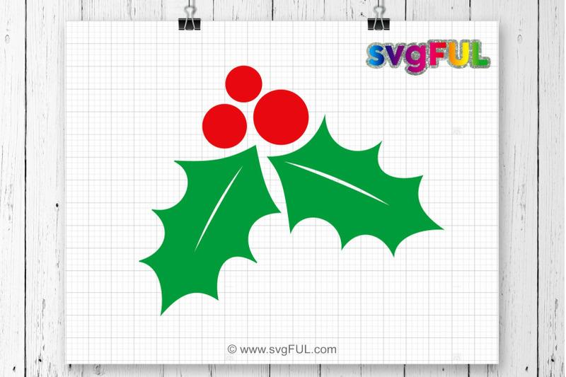 christmas-holly-svg-holly-svg-mistletoe-svg-winter-svg-christmas-svg-silhouette-cut-files-cricut-cut-files