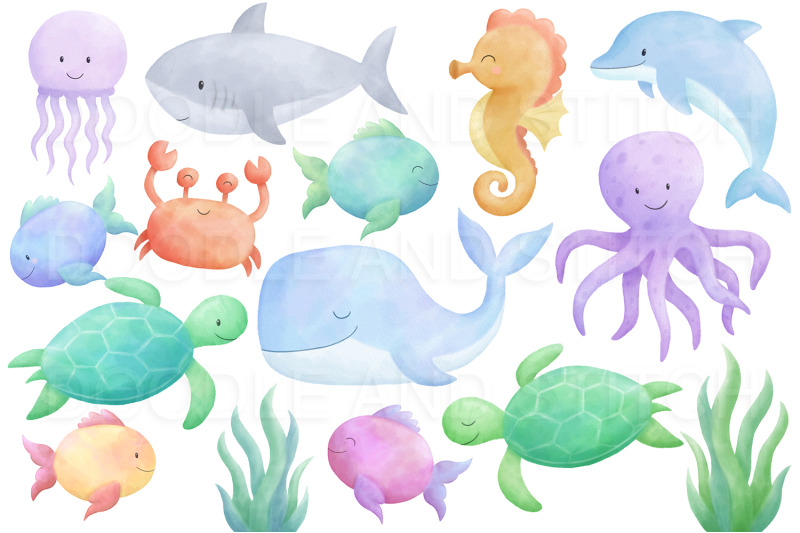 under-the-sea-watercolor-clipart
