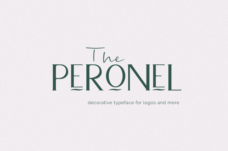 peronel-decorative-typeface-for-logos-and-more