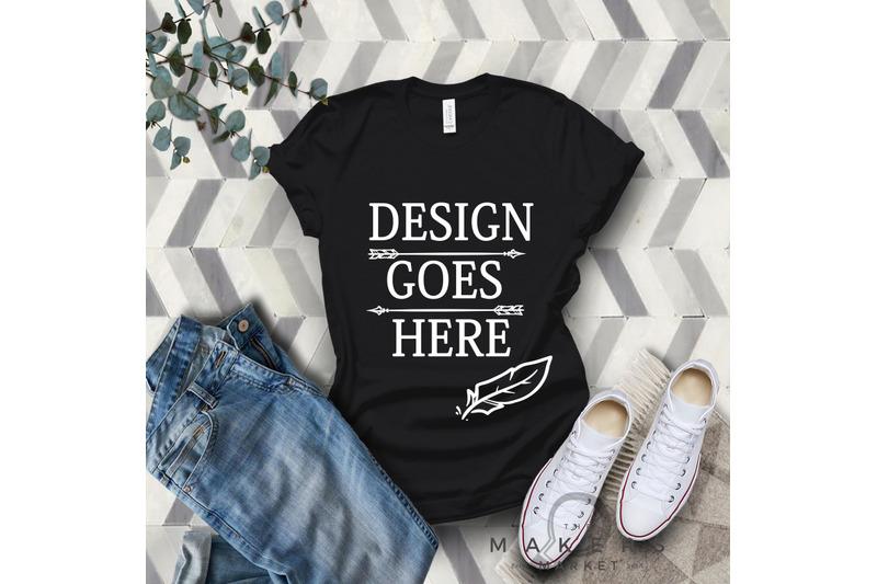 vintage-black-adult-t-shirt-t-shirt-mock-up-bella-canvas-t-shirts-3