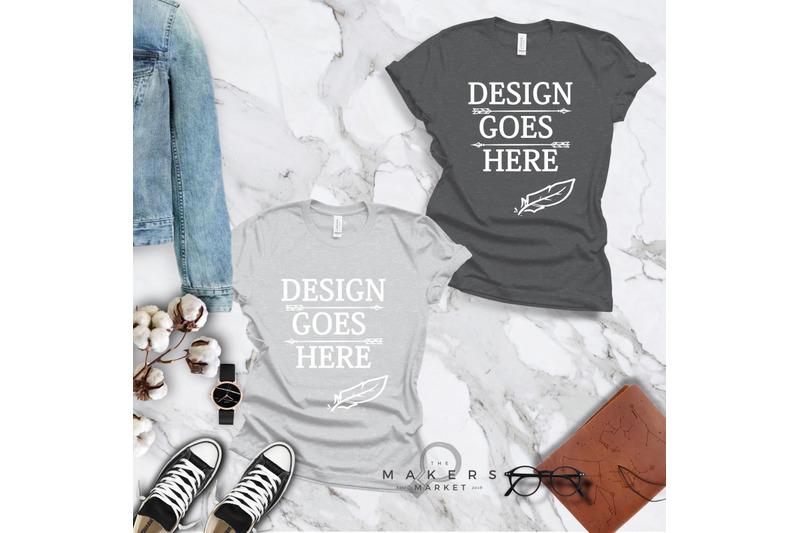 t-shirt-mock-up-bella-canvas-t-shirts-3001t-t-shirt-mockup-mega-bun