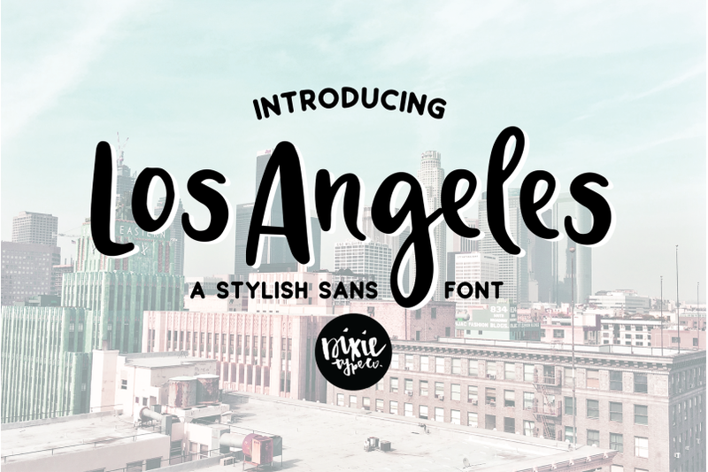 los-angeles-a-stylish-sans-serif-font