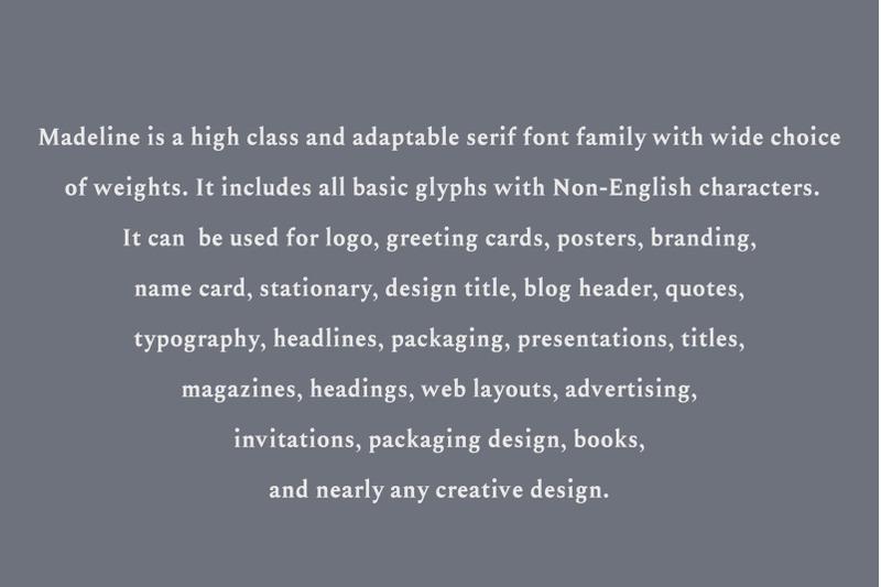 Madelin Serif Font Family By Creativewhoa Thehungryjpeg Com