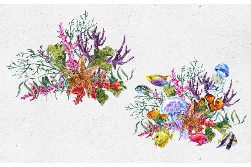watercolor-sea-life-digital-paper