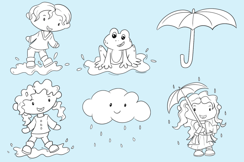 april-showers-digital-stamps
