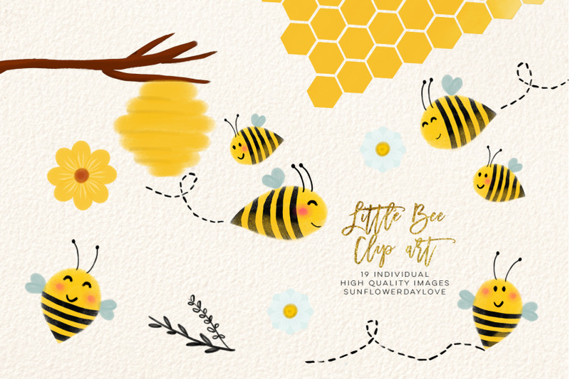 bee-clip-art-bees-illustration-honey-bee-clipart