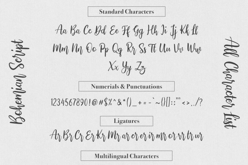 bohemian-script