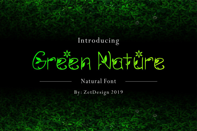 green-nature-font