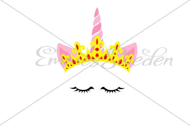 unicorn-face-queen-svg