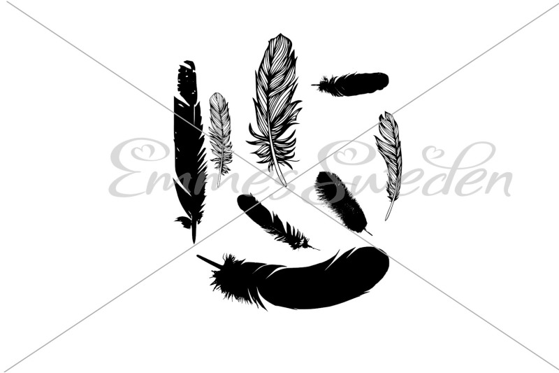 feathers-silhouette-bundle