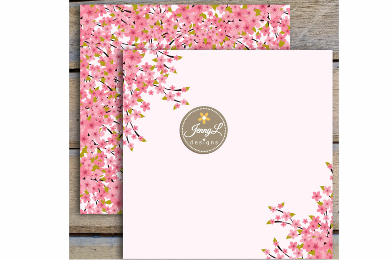 cherry-blossoms-digital-paper-and-sakura-clipart