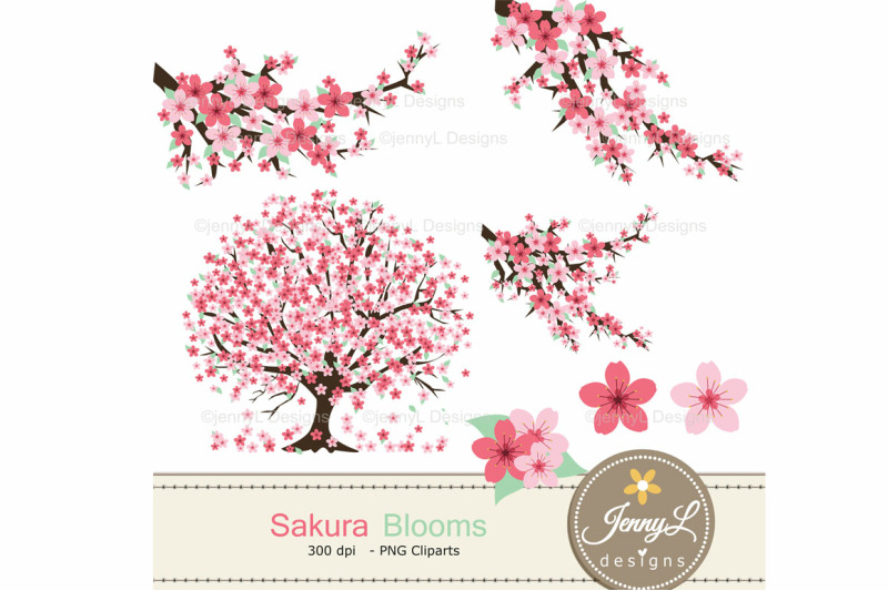 cherry-blossoms-digital-paper-and-sakura-clipart