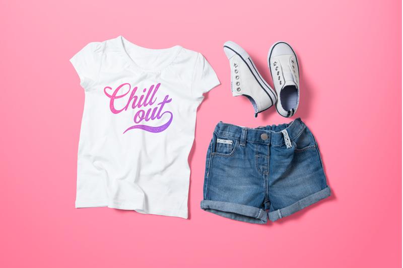 Free Crew Neck T-shirt Mock-up Girl's Version (PSD Mockups)