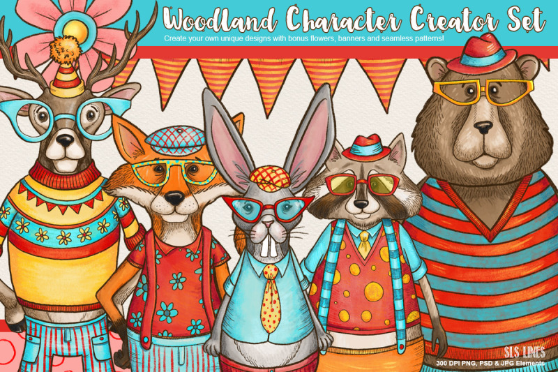 woodland-creatures-character-creator-set